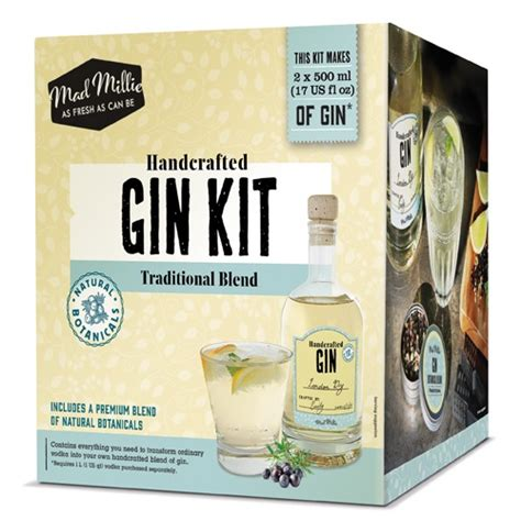 Handcrafted Gin - mad millie handcrafted gin kit grow brew