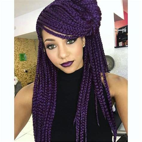 dark purple braiding hair deep purple braids color pinterest deep purple