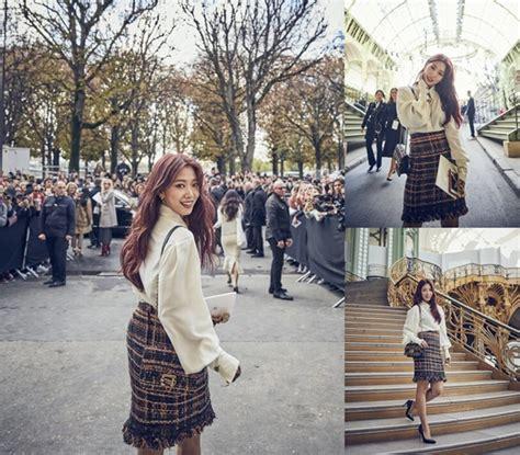 super cantik intip kerennya penilan park shin hye di super cantik intip gaya park shin hye di paris fashion