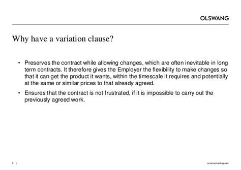 jct design and build contract clause 6 5 1 variations and their consequences olswang construction