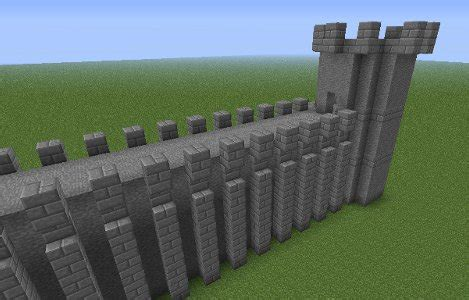 minecraft how to build a castle wall how to build a