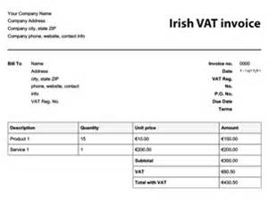 Invoice Template Ireland by Free Invoice Templates Invoices