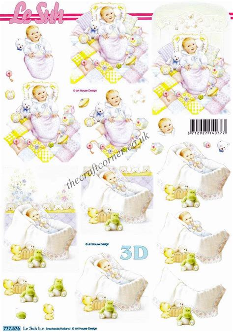 Baby Decoupage - baby boy with toys 3d decoupage sheet