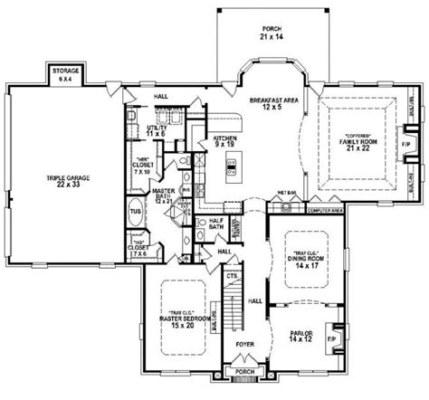 4 Bedroom 3 Bath House Plans by 3 Bedroom 3 5 Bath House Plans Beautiful 4 Bedroom 3 5