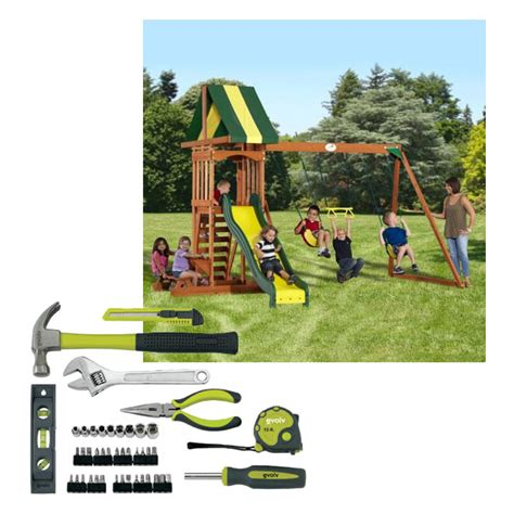 Backyard Discovery Manual Backyard Wood Swing Set Play All Day With Kmart