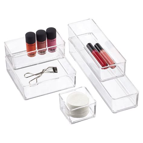 stacking bathroom storage drawers acrylic stackable drawer organizers the container