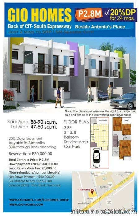 gio homes back of cit south expressway for sale cebu
