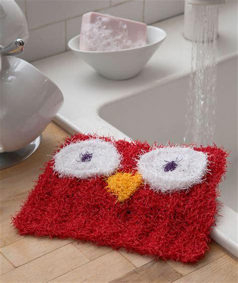 swirl scrubby free crochet pattern in red heart yarns wise owl scrubby red heart