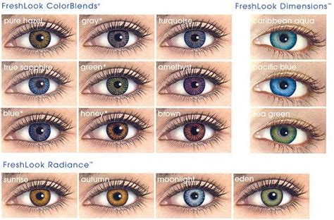 fresh look contacts colors color contacts freshlook or acuvue contact lenses