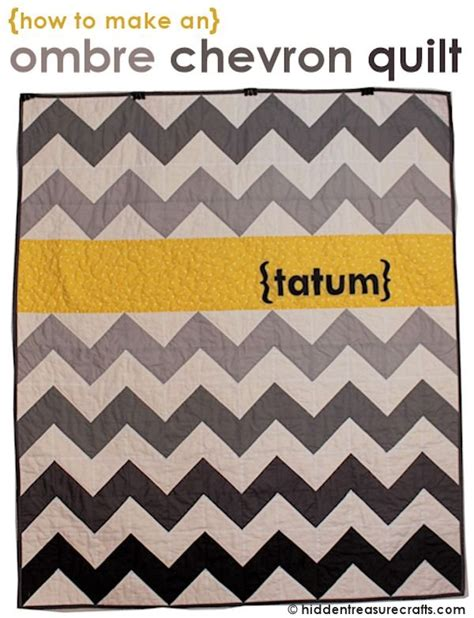 tatum s ombre chevron quilt hidden treasure crafts and