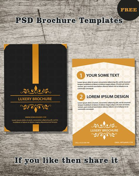 free brochure psd templates