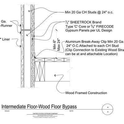 1 Hr Concrete Floor With Wood Framing - usg design studio wood flooring details