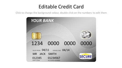 credit card ppt templates free silver credit card template