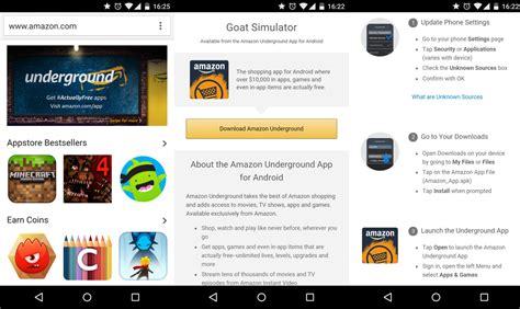 amazon underground amazon underground la secci 243 n de apps y juegos gratis