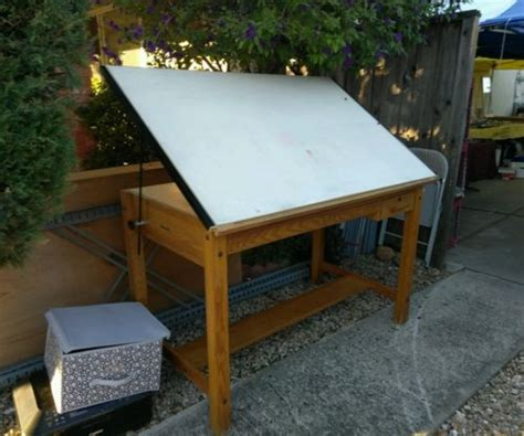 Mayline Oak Drafting Table Drafting Table Mayline For Sale Classifieds