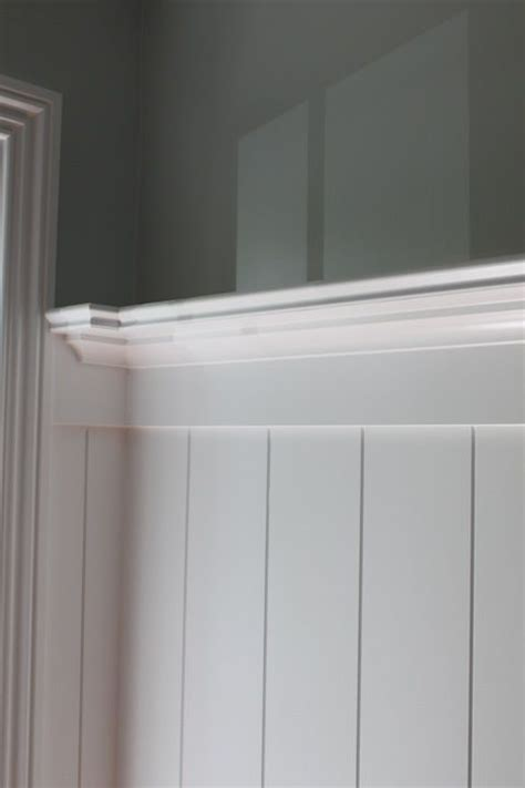 Wainscoting Planks dining room wall treatment idea a plate rail assembly caps the wide plank v groove wainscot