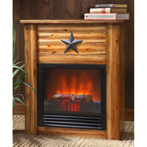 Rustic Fireplace by Guide Gear 174 Rustic Concealment Electric Fireplace 209367