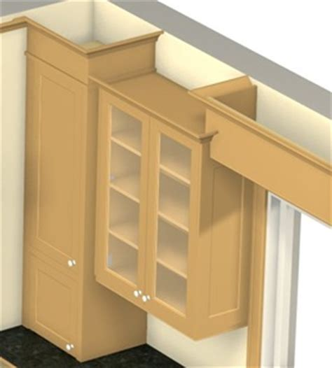 Building Frameless Kitchen Cabinets by Crown Mouldings On Varying Cabinet Heights Stonehaven Life