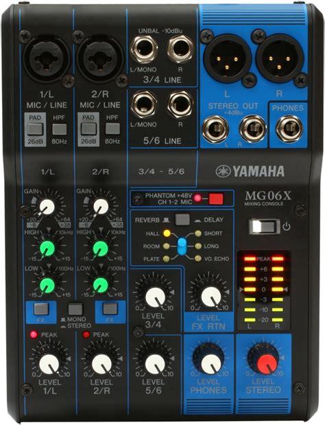 Mixer Yamaha Mg 06x Original 6 Ch yamaha mg06x sweetwater