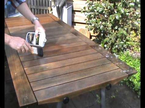 eiken tafelblad schoonmaken skagerak teak houten tafel reinigen youtube