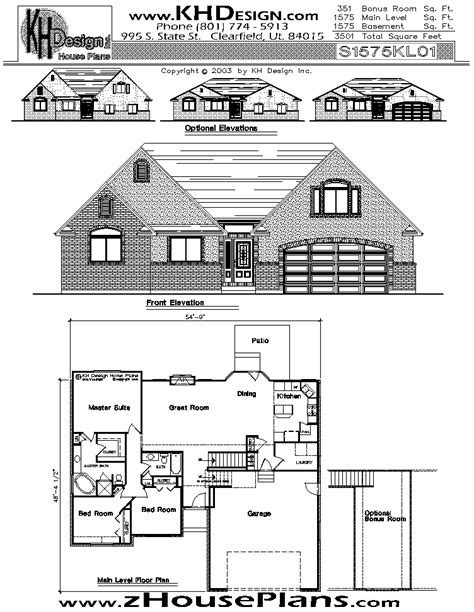 khd house plans one level