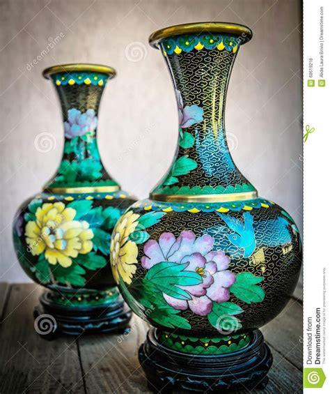 vasi antichi cinesi vasi antichi cinesi cloisonne fotografia stock immagine