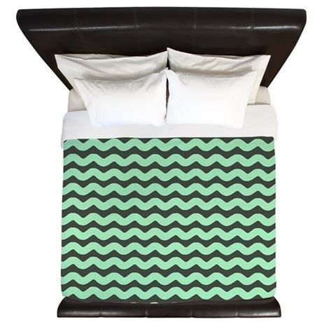 mint green chevron bedding mint green wavy chevron king duvet by patternedshop