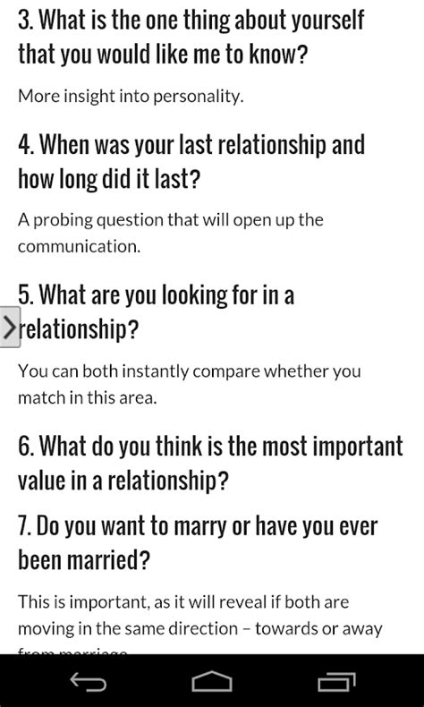 Online dating questions to ask a man to do things