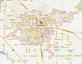 bakersfield california map and bakersfield california