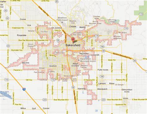 bakersfield california map