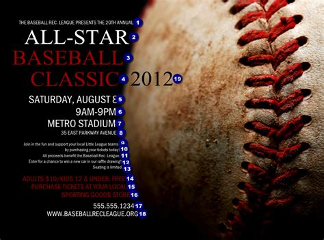 baseball flyer template baseball stitches flyer ticketprinting
