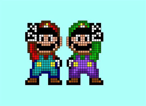 famous characters in pixel art mario and luigi 17 best images about 8 bit pixel y stuff on pinterest