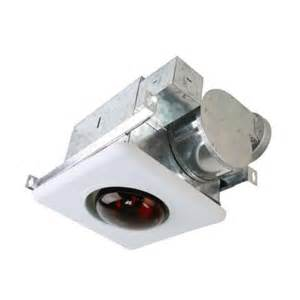 Bathroom Ceiling Fan With Light And Heater Nuvent 70 Cfm Ceiling Mount Bath Fan With Heat Light Nxbv70 The Home Depot