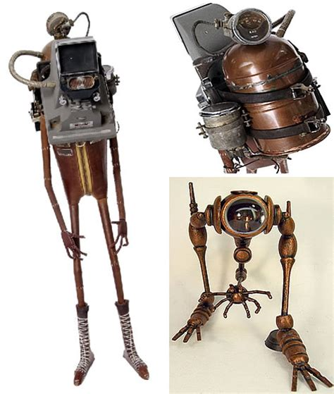 Cool Lamps Retro Robot Art Pseudo Victorian Amp Steampunk Gallery