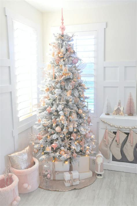 Awesome Michaels Christmas Tree Ornaments #1: Blush-pink-and-white-christmas-tree-by-karas-party-ideas-kara-allen-for-michaels-dream-tree-challenge-2016-5-2.jpg?itok=T-Jd2jPW
