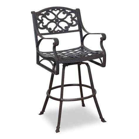 Shop Home Styles Biscayne Swivel Mesh Aluminum Patio Bar Outdoor Bar Height Swivel Chairs