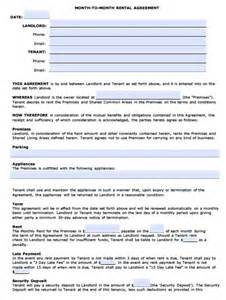free arizona monthly rental agreement pdf template