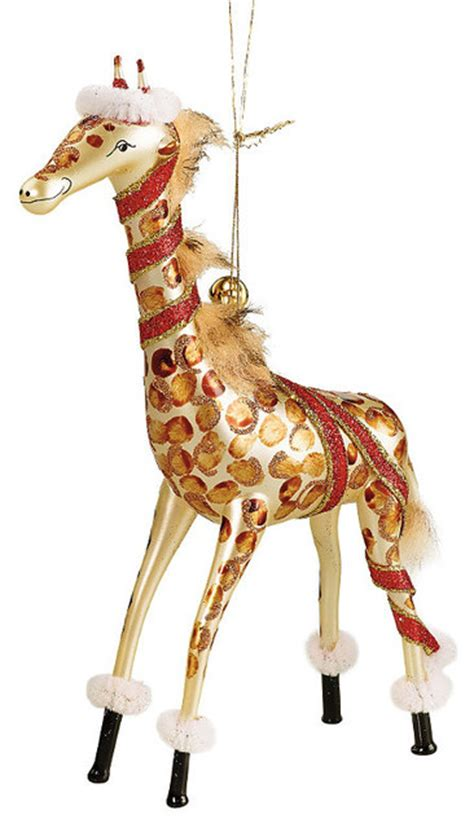 jerry the giraffe jinglenog christmas ornament frontgate