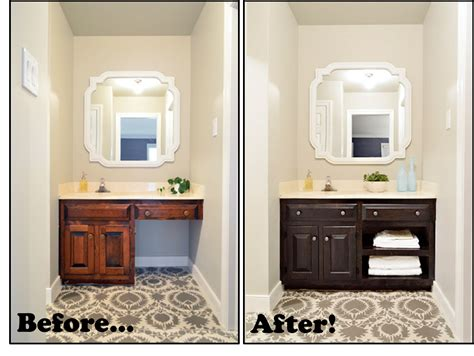 make bathroom vanity from kitchen cabinets young house love used minwax polyshades in espresso satin
