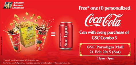 Coca Cola Giveaways - gsc free personalized coca cola can giveaway freebies land malaysia