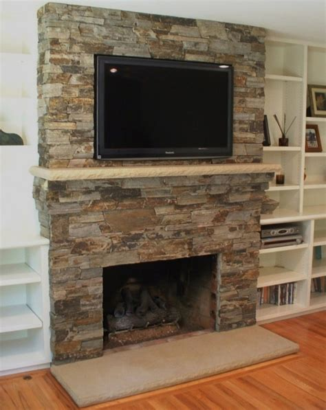fireplace with mantel and tv home