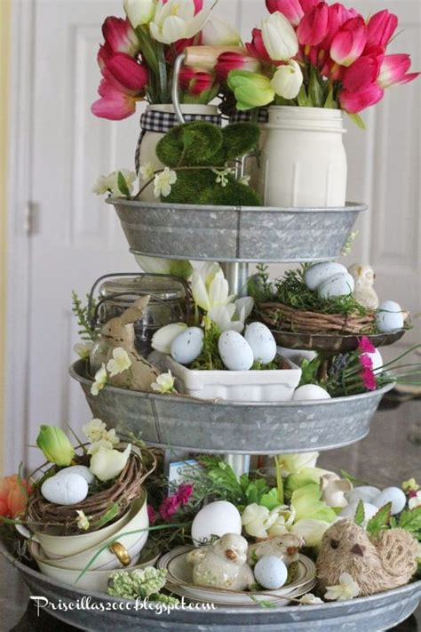 etagere ostern easter home decor ideas