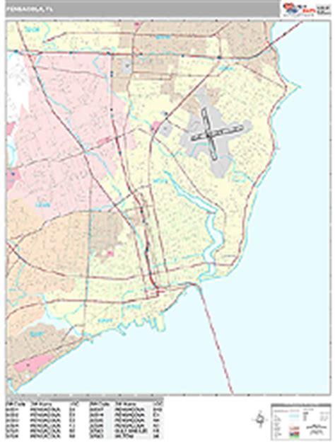zip code map pensacola pensacola florida zip code wall map premium style by