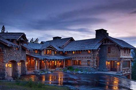 Log Cabin Big Sky Montana Rustic Luxe Log Cabin Retreat In Big Sky Montana