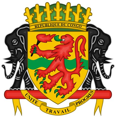 armoirie du congo brazzaville coat of arms of the republic of the congo