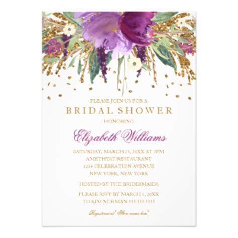 What To Get For A Bridal Shower by Floral Bridal Shower Invitations Announcements Zazzle