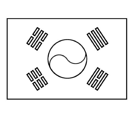 Korean Flag Coloring Page south korea flags for coloring korea n and korea s