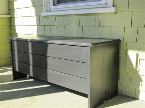 custom outdoor storage bench crafted outdoor storage bench by newton