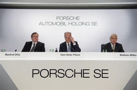 Porsche Holding Se by Porsche Se Nach Abgaskrise Wieder Gewinn Angepeilt