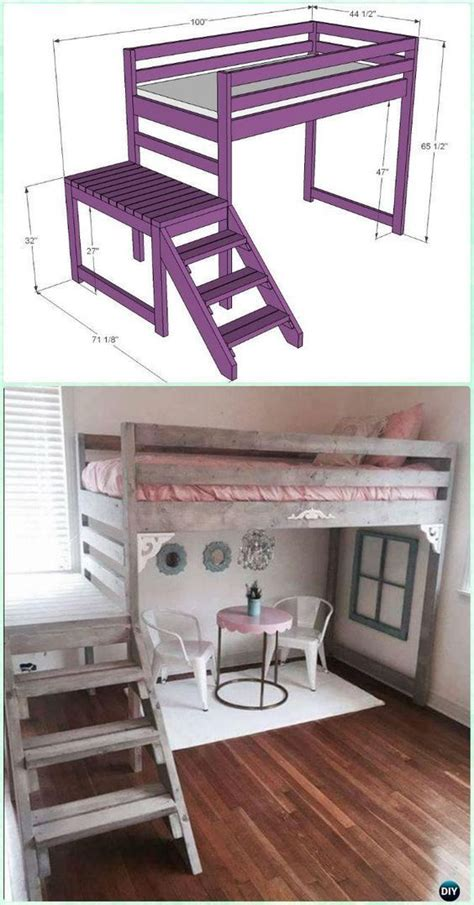 diy kids bunk bed  plans picture instructions kids